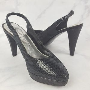 White House Black Market Pat Leather Heels Sz 6.5